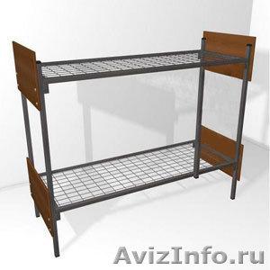 кровати металлические для рабочих, кровати одноярусные и двухъярусные оптом - Изображение #3, Объявление #701262