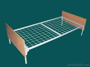 кровати металлические для рабочих, кровати одноярусные и двухъярусные оптом - Изображение #5, Объявление #701262
