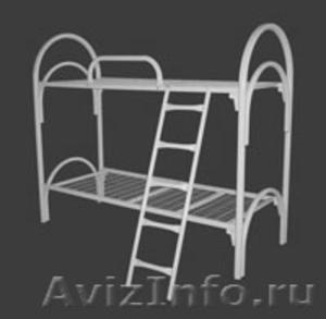 кровати металлические для рабочих, кровати одноярусные и двухъярусные оптом - Изображение #4, Объявление #701262