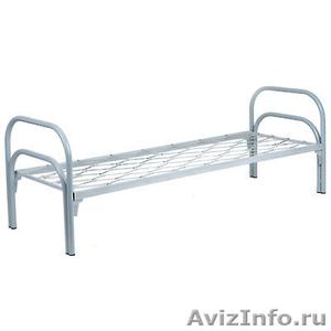 кровати металлические для рабочих, кровати одноярусные и двухъярусные оптом - Изображение #1, Объявление #701262